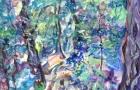 """""""Nella natura"""" acrilico su tavola 50 x 70 2010"""