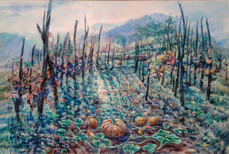 Luce nella natura olio 80 x 60 2015